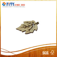 Best-selling natural delicate wooden leaf carving decoration for keys