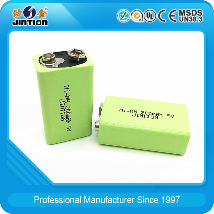 Ni-MH 9V 200mAh Rechargeable Battery