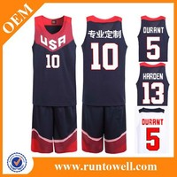 Runtowell basketball uniform designs 2013 basketball uniform / sample basketball jersey / white basketball wear
