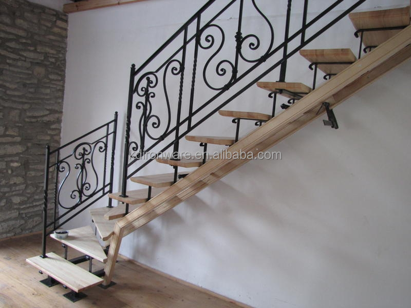 Simple Fashionable Forged Iron Railings For Indoor Stairs Price