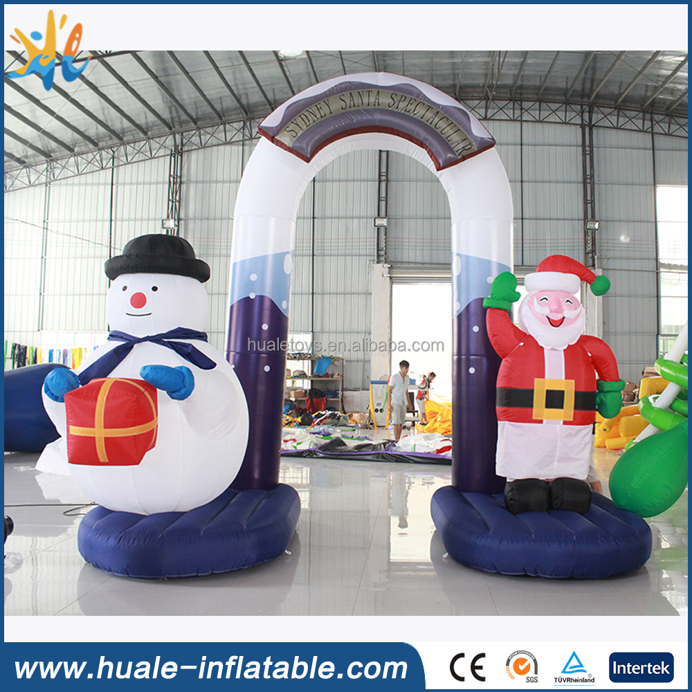 Inflatable Santas and snowmam arch, inflatable Christmas arch