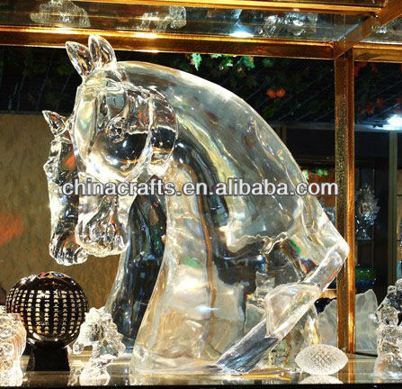 2013 newest styles crystal horse head CM-033