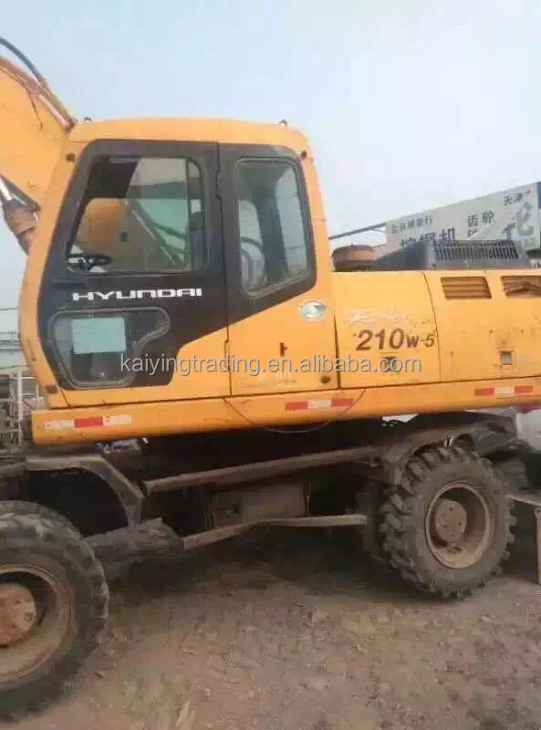 Excavator Cheap Price Hyundai R210W-5 High Quality 21 Ton Wheel Excavator
