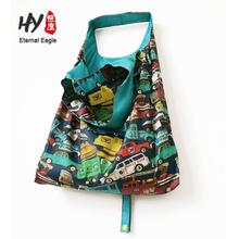 Reusable storage foldable grocery nylon eco friendly waterproof bag