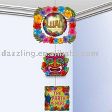 3-Tier Inflatable Hanging Decoration - Summer Luau