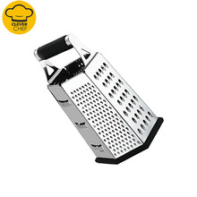 high quality hot sale 4 sides stainless steel box grater accessories kitchen for cheese vegetable ginger