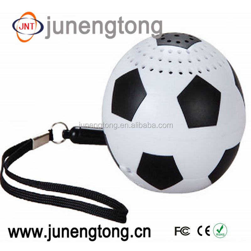 Fashion unique design football shape music mini bluetooth speaker 2016