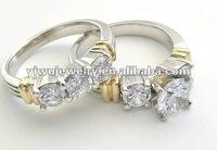 Fashion Diamond Cubic Zirconium Wedding Rings for Women Bridal Jewelry