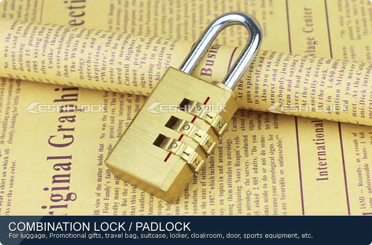 Digit Resettable Travel Luggage Brass Combination Lock