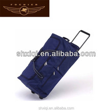 wholesale trolley polyester rolling travel bag