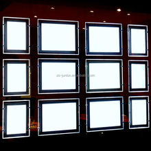 Illuminated real estates agents window display led light pockets