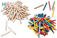 plain or colorful wooden ice cream sticks wholesale