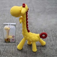 Various cute baby teething toys new products Silicone baby teething Giraffe Shape Soft Silica Baby Teether