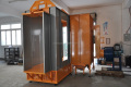 open powder coating spray chamber