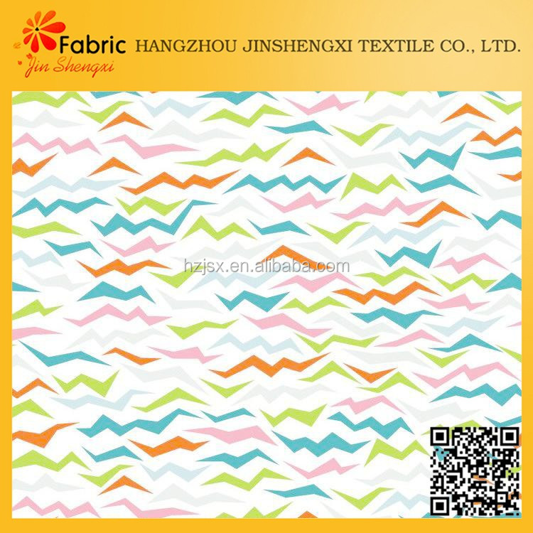 Hangzhou new design 100% cotton light gray circle printed poplin fabric