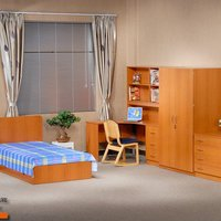 Simple Modern Design Wood Dormitory Furniture