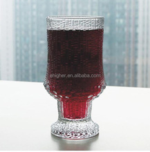 10oz Stemmed Vessels Red Wine Goblet Glass With Textured Bubble Effect