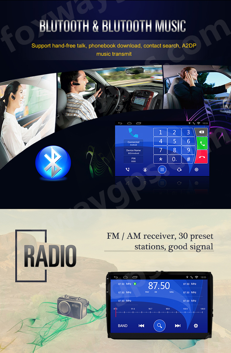 FOXWAY wholesale all-in-one car radio for mazda 6