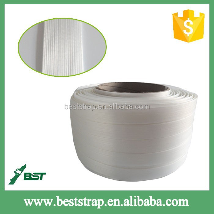 BST Composite polyester packing strapping band with metal buckle