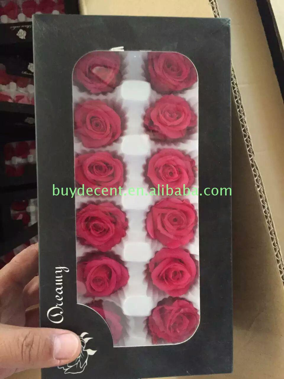 Premium quality luxury China decorative preserved roses eternal cheap price wedding decoration flower wholesaler