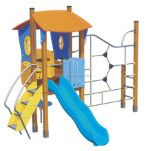 good quality personalized modern small wooden slide children playground