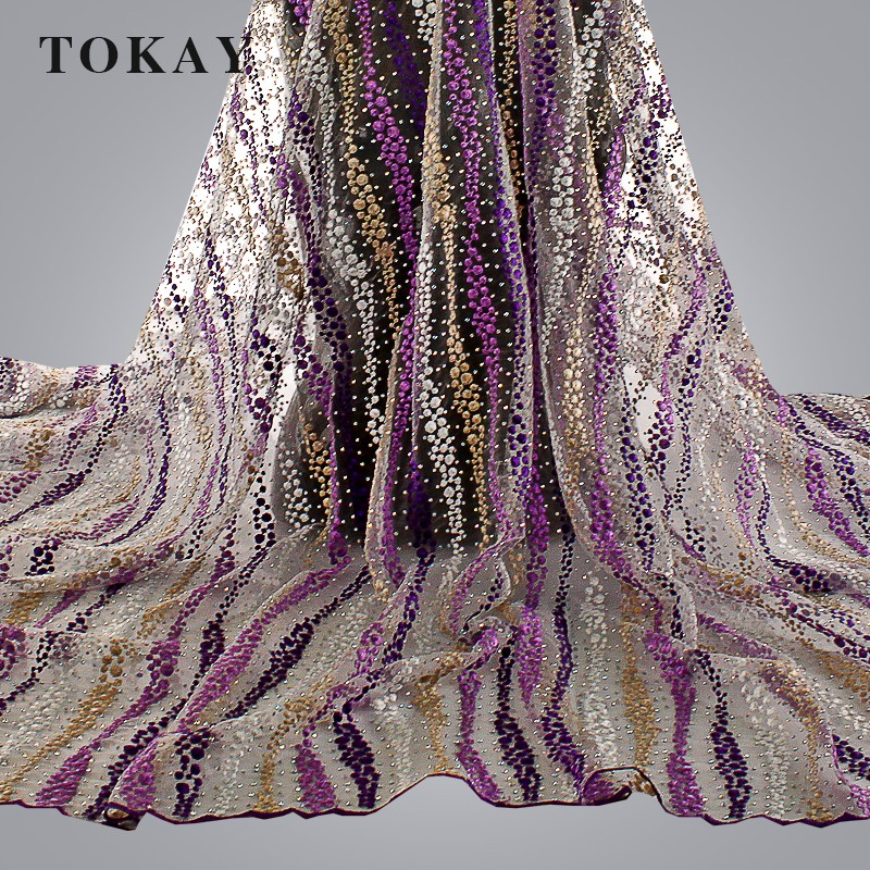New Arrival african tulle lace fabric high quality/tulle embroidery lace