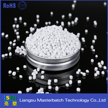 China supplier high quality pp / pe / pet virgin material plastic granules white masterbatch for food grade