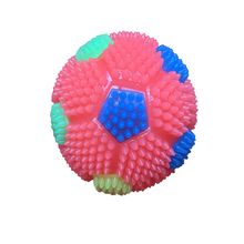Fashionable flashing light ball pet toy squeaky ball chew dog toys