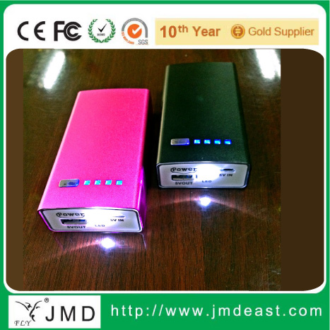 Long march power bank 2400mah to 5200mah, metal power bank, power bank with LED light
