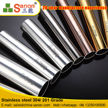 Stainless Steel Round Pipe In Grad 201 202 301 304