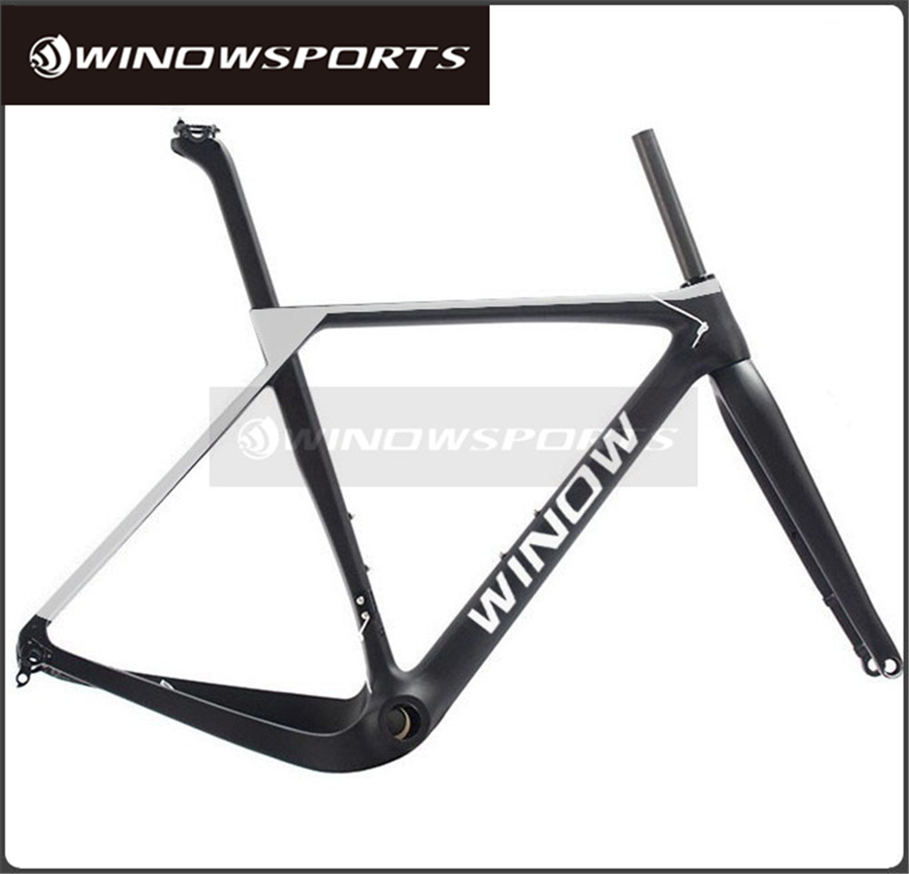 2017 Winow Available Gravel 700C Carbon Bike Frame 135mm/142mm Di2 Gravel Bicycle Frame Cyclocross Disc Bike Frame