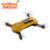 GLOBAL DRONE Mini Foldable Selfie Drone GW018 With 2MP 720P HD Camera Altitude Hold WIFI FPV Headless Mode Gold JY018