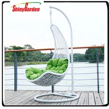 indoor wholesale swing hanging rattan chair with base