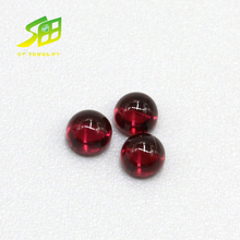 Flat element face 3mm round shape natural garnet