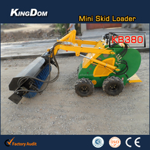 Mini skid steer loader with Sweeper attachment