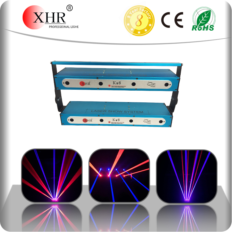 Red 2000mw Blue 4000mw Moving Beam Night Club Outdoor Event Laser Light Show System
