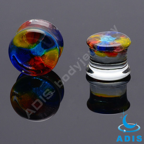 ADIS Wholesale Fashion Glass Ear Plug Ear Gauge