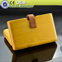 handmade red Wooden wallet for free laser logo