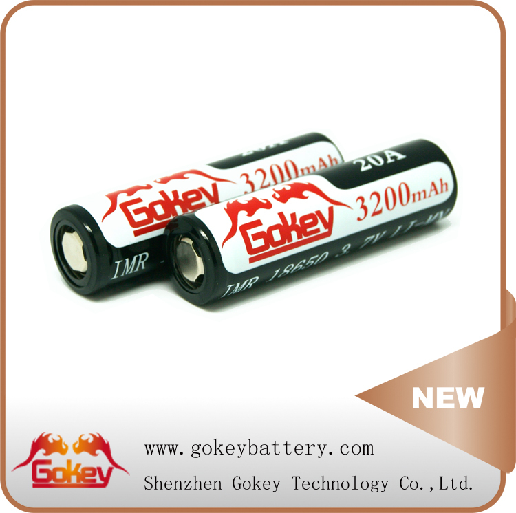 3.7V 18650 Gokey 3200mAh Battery Li-Mn 18650 Lithium Battery 35A 3.7V 3200mAh Gokey Power Li-Mn Batterires 18650 Rechargeable