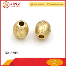 zinc alloy bag accessories flat metal beads