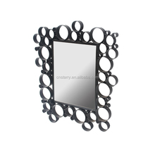 Bubble Iron Framed Mirror