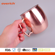 Everich 500ml customized mule copper moscow mugs with handle