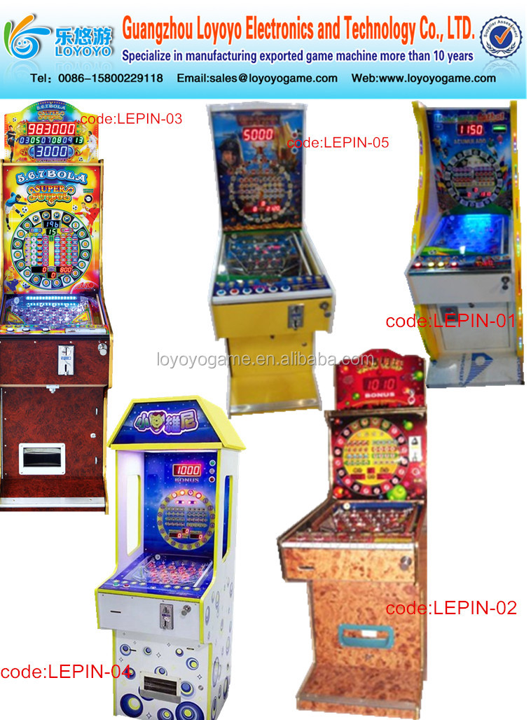 7 balls electronic pinball game machine arcade