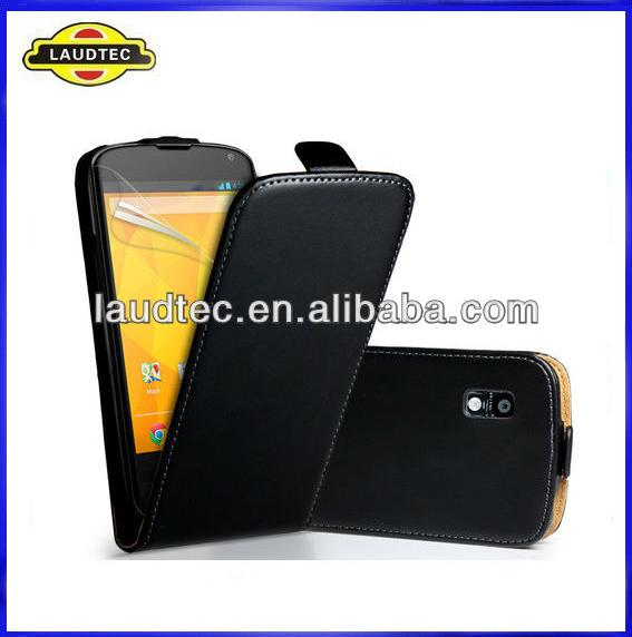 Leather Flip Case for LG Nexus 4 E960, Flip Leather Case for LG Nexus 4 E960, Laudtec
