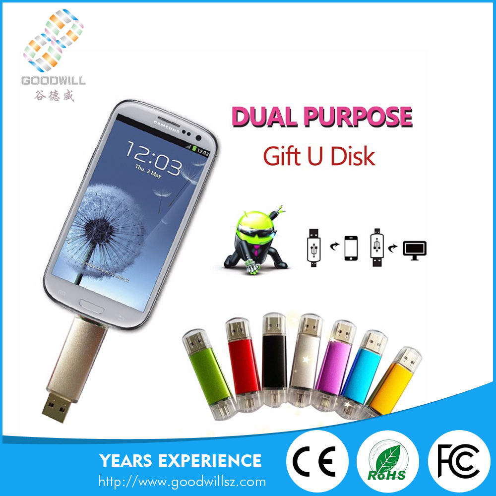 New Arrival 32gb Pendrive Gifts Otg Usb Flash Drive For Mobile Phone