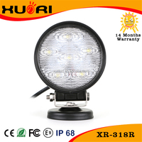Super hot products car accessories 18w led work light for 4*4 cars offroad trucks SUV UTV vesselsl 6000K LED work lights