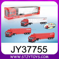Free wheel diecast metal container truck toy model