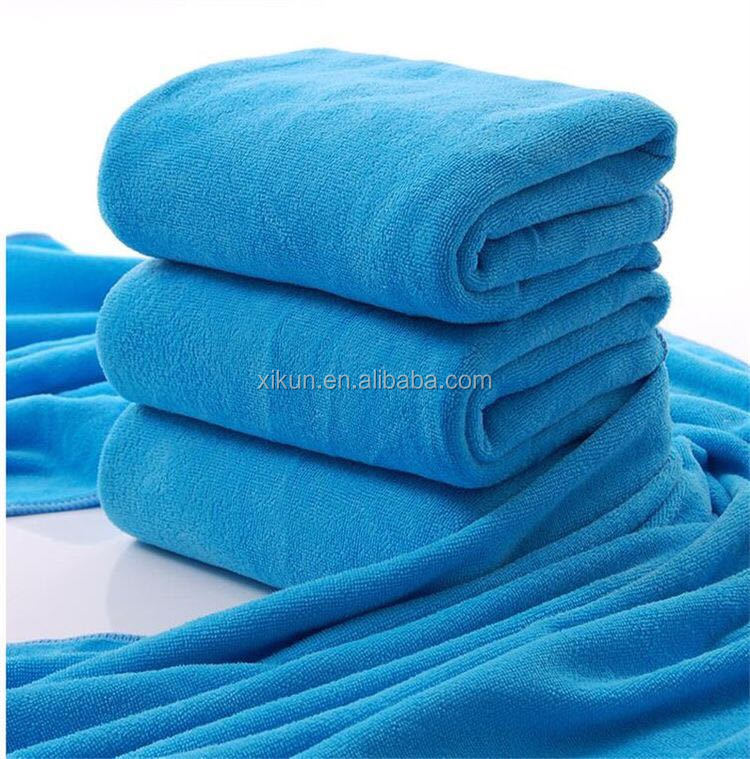 polyester and polyamide terry solid color microfibre towel