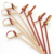 Natural colored bamboo knot  pick flat skewers for party
