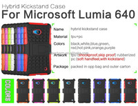 Factory price Mobile phone PC+TPU combo case for Microsoft Lumia640